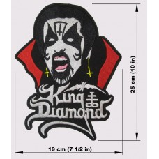 KING DIAMOND back patch embroidered logo