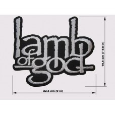 LAMB OF GOD back patch embroidered logo