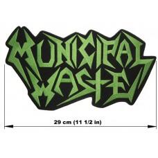 MUNICIPAL WASTE back patch embroidered logo