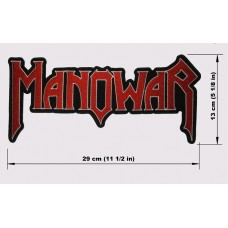 MANOWAR back patch embroidered logo