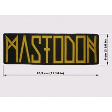 MASTODON back patch embroidered logo