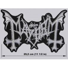 MAYHEM back patch embroidered logo