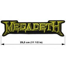 MEGADETH back patch embroidered logo