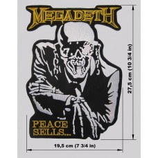 MEGADETH back patch embroidered logo Peace Sells