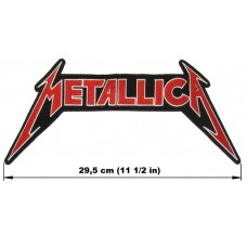 METALLICA back patch embroidered red