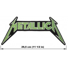 METALLICA back patch embroidered green