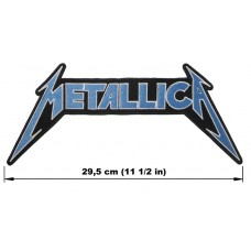 METALLICA back patch embroidered blue