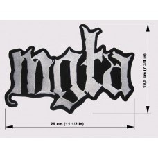 MGLA back patch embroidered logo