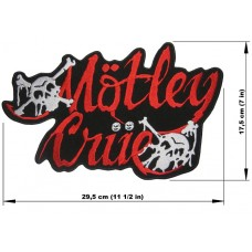 MOTLEY CRUE back patch embroidered logo