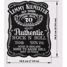 LEMMY KILMISTER back patch embroidered Motorhead