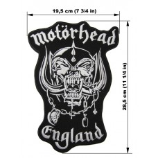 MOTORHEAD back patch embroidered England