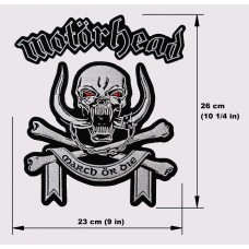 MOTORHEAD back patch embroidered March Or Die