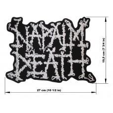 NAPALM DEATH back patch embroidered logo