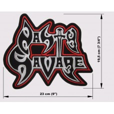 NASTY SAVAGE back patch embroidered logo