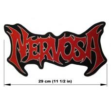 NERVOSA back patch embroidered logo