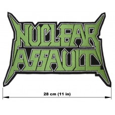 NUCLEAR ASSAULT back patch embroidered logo