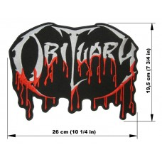OBITUARY back patch embroidered logo