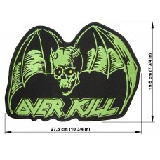 OVERKILL back patch embroidered logo