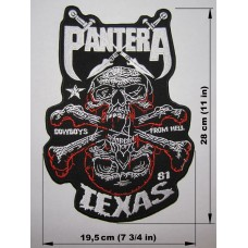 PANTERA back patch embroidered logo