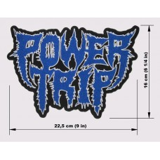 POWER TRIP back patch embroidered logo