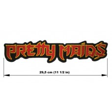 PRETTY MAIDS back patch embroidered logo