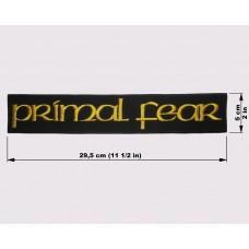 PRIMAL FEAR back patch embroidered logo
