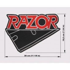 RAZOR back patch embroidered logo