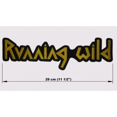 RUNNING WILD back patch embroidered logo