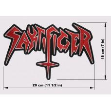 SAKRIFICER back patch embroidered logo