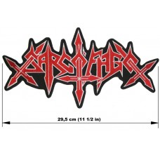 SARCOFAGO back patch embroidered logo