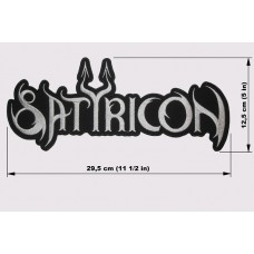 SATYRICON back patch embroidered logo