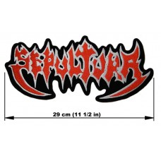SEPULTURA back patch embroidered logo