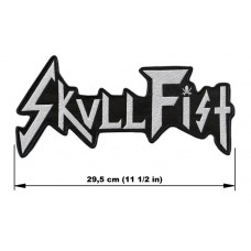 SKULL FIST back patch embroidered logo