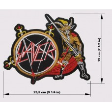 SLAYER back patch embroidered Show No Mercy