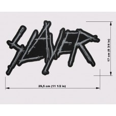 SLAYER back patch embroidered logo
