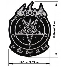 SODOM back patch embroidered In The Sign Of Evil