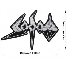 SODOM back patch embroidered logo