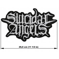 SUICIDAL ANGELS back patch embroidered logo