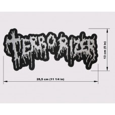 TERRORIZER back patch embroidered logo