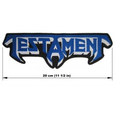 TESTAMENT back patch embroidered logo