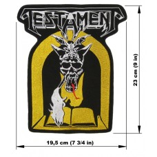 TESTAMENT back patch embroidered Legacy