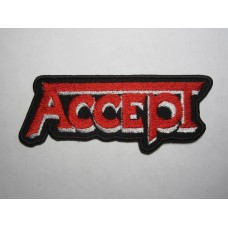 ACCEPT patch embroidered