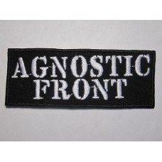 AGNOSTIC FRONT patch embroidered