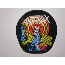 ANTHRAX patch Judge Dredd embroidered
