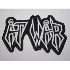 AT WAR patch embroidered