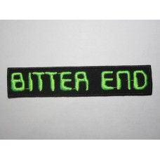 BITTER END patch embroidered