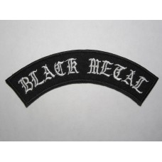BLACK METAL patch embroidered