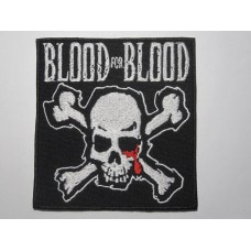 BLOOD FOR BLOOD patch embroidered