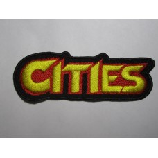 CITIES patch embroidered