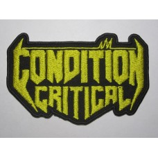 CONDITION CRITICAL patch embroidered